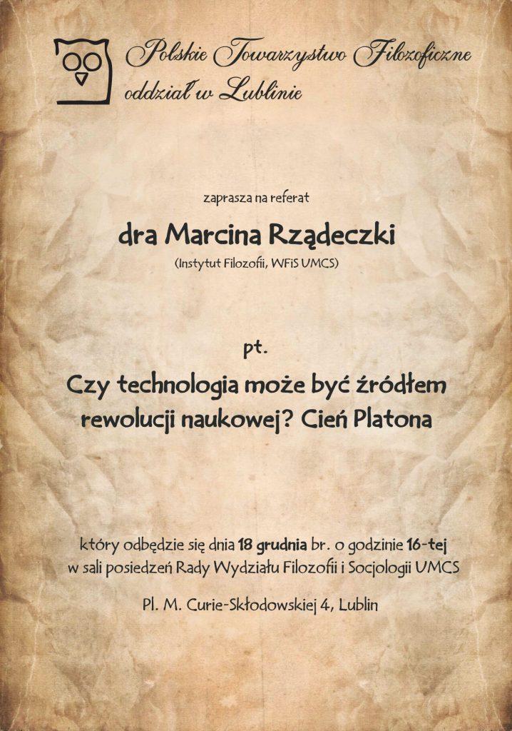 Czy technologia może być źródłem rewolucji naukowej? Cień Platona