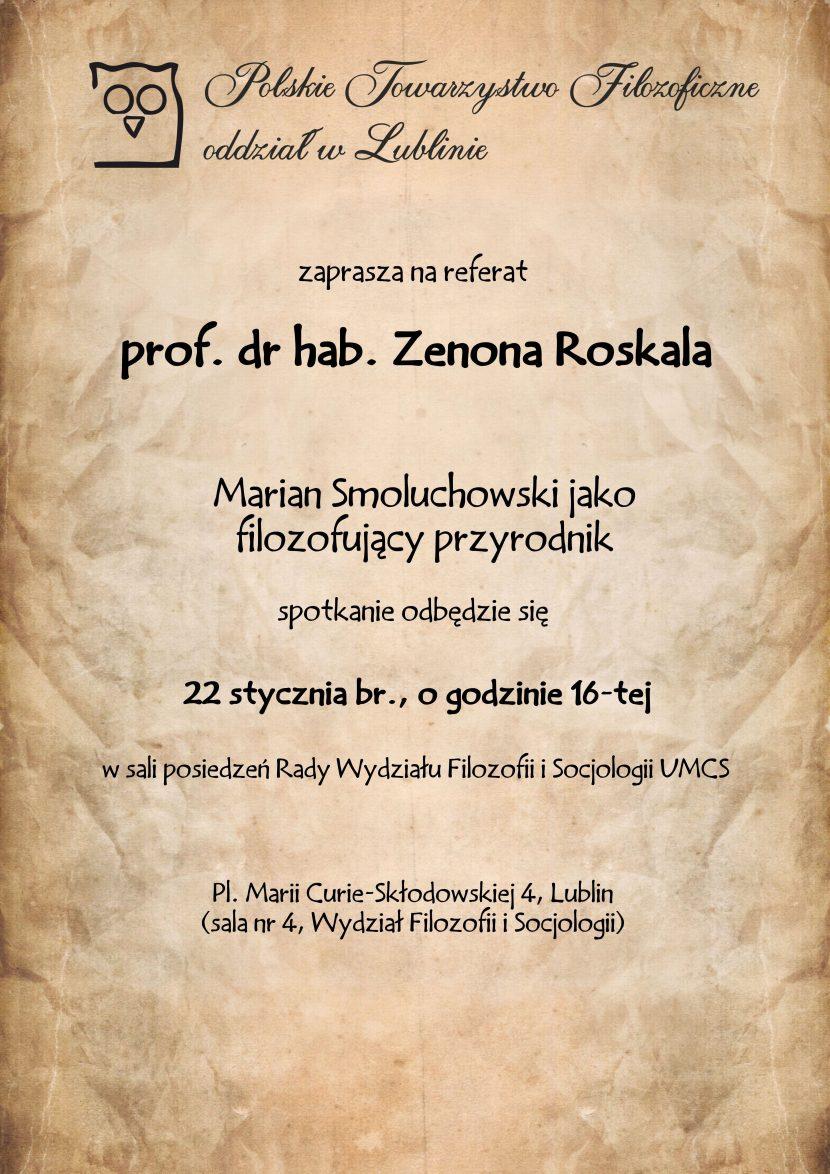 Marian Smoluchowski jako filozofujący przyrodnik
