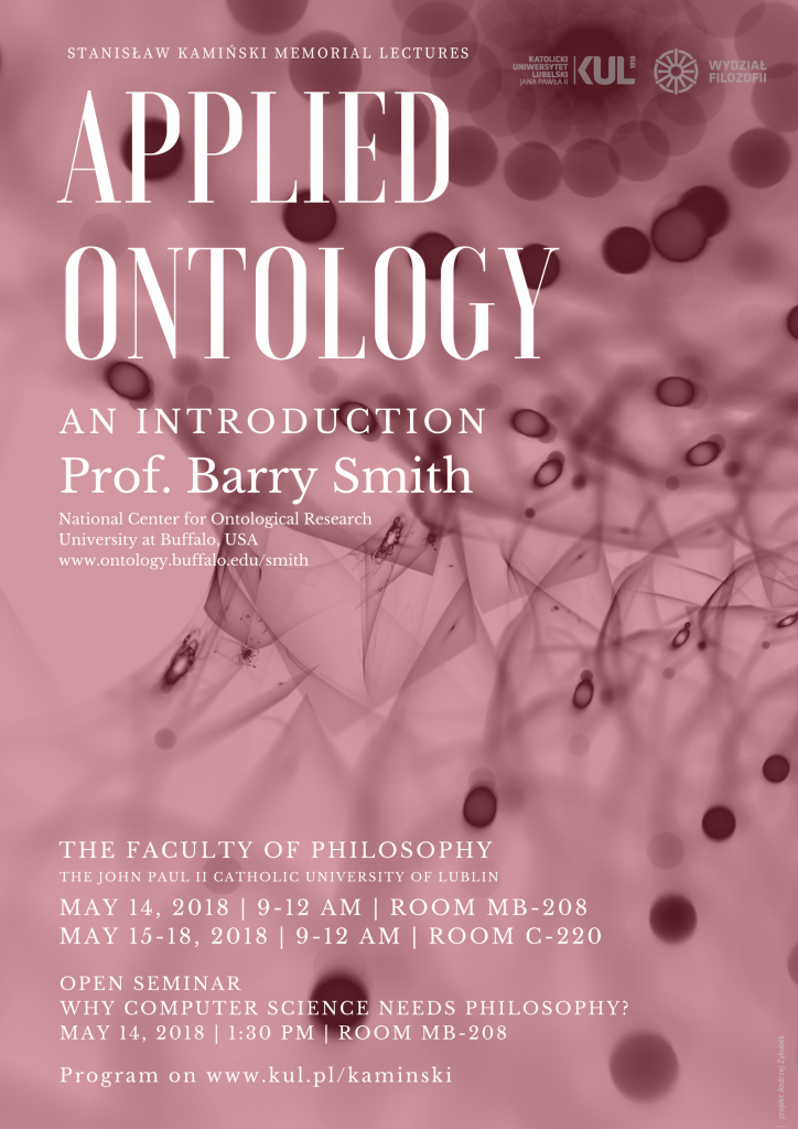 Applied Ontology: An Introduction – Prof.Barry Smith