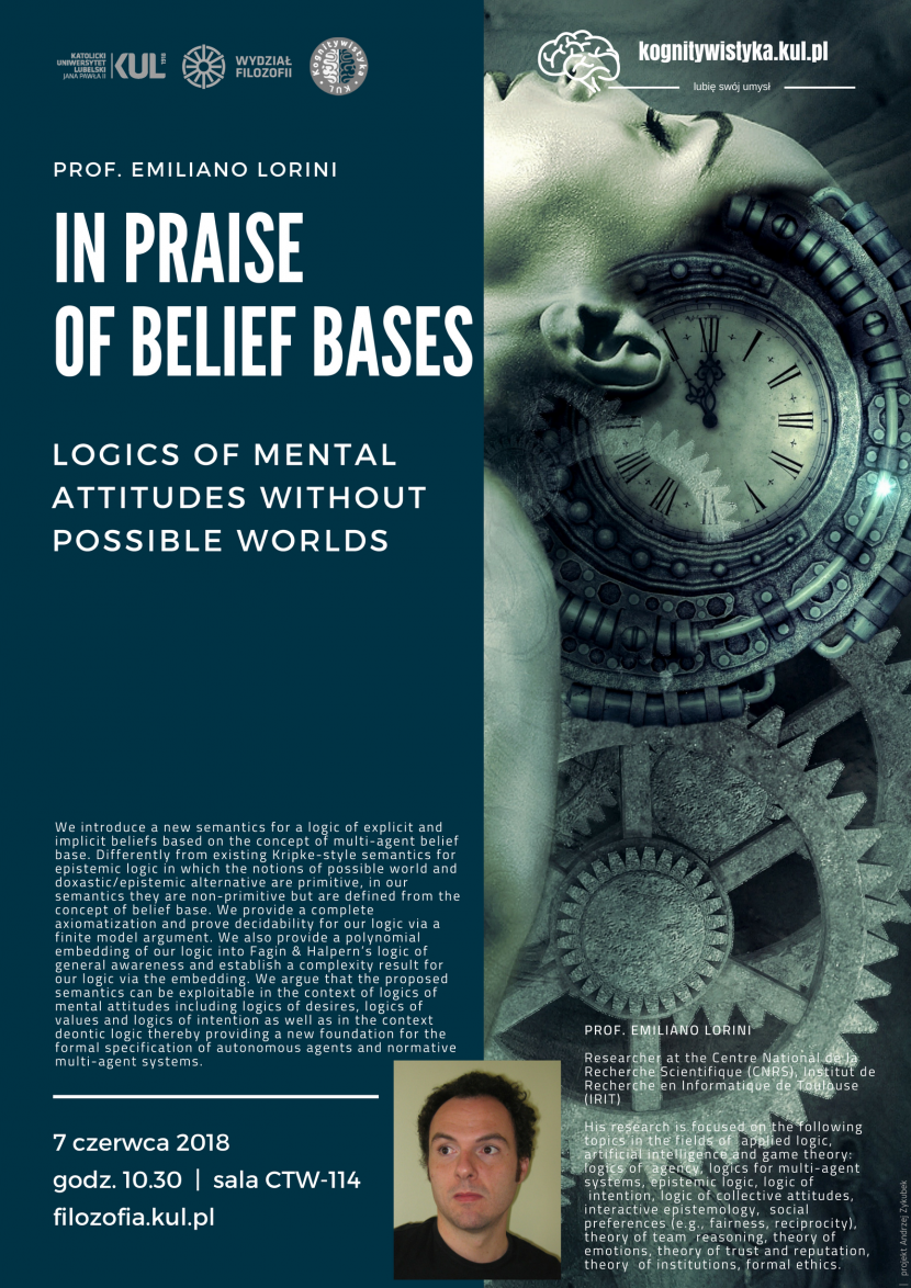 In Praise of Belief Bases: Logics of Mental Attitudes without Possible Worlds – Prof. Emiliano Lorini