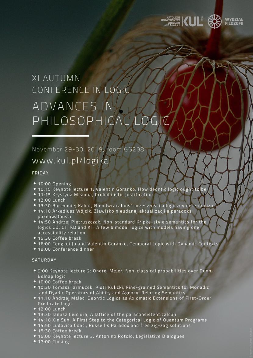 Advances in Philosophical Logic. XI Jesienna Konferencja Logiki