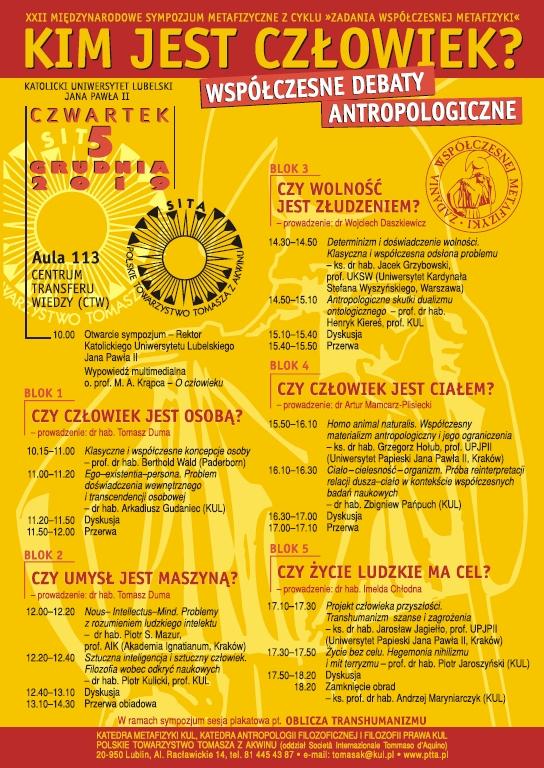 Kim jest człowiek? Współczesne debaty antropologiczne @ Aleje Racławickie 14 | Lublin | lubelskie | Polska