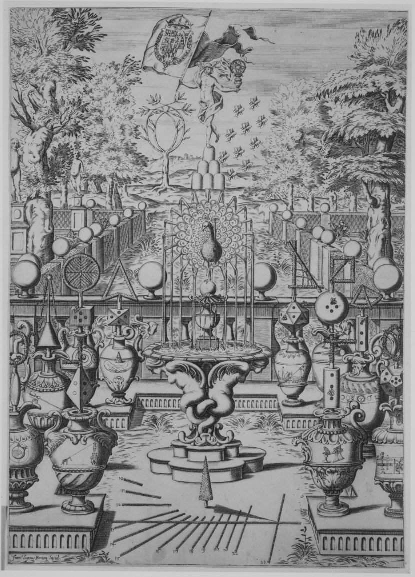 Garden of Mathematical Sciences 17th century Francesco Curti