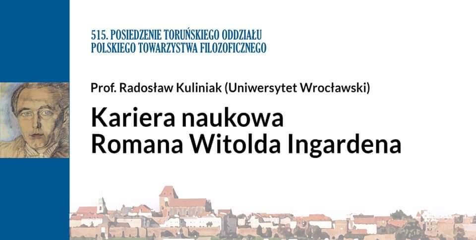 Kariera naukowa Romana Witolda Ingardena. Debata online
