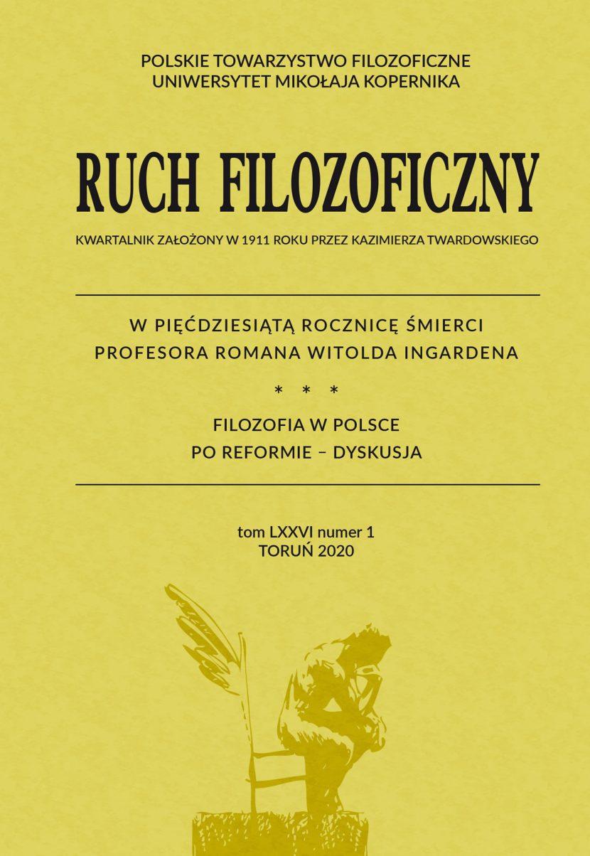 Ruch FilozoficznyVol 76, No 1 (2020)